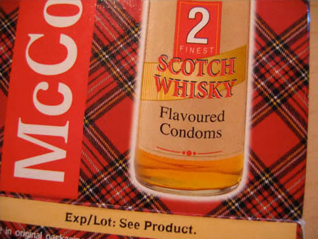 Whiskey Flavored Condom