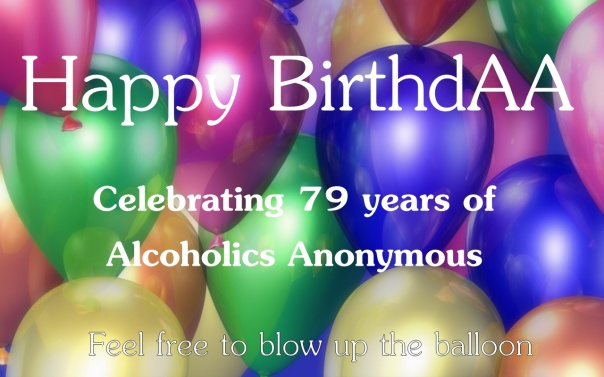 Used 2014-06-10 Happy BirthdAA (AlKHall sobriety recovery)
